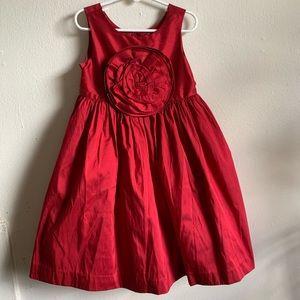 Red Silk Formal Dress